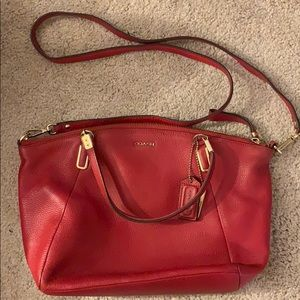 Coach red crossbody bag